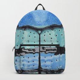 Upholstered Blue Weevil Backpack