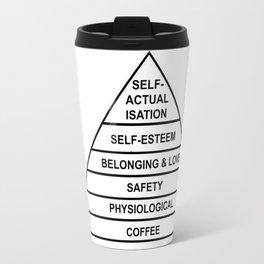 Hierarchy of Needs... Coffee! Travel Mug