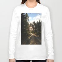 forrest Long Sleeve T-shirts featuring My Forrest by Plutonian Oatmeal