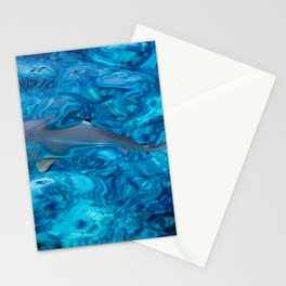 Baby Shark in the Turquoise Water. Production by Nature Stationery Cards