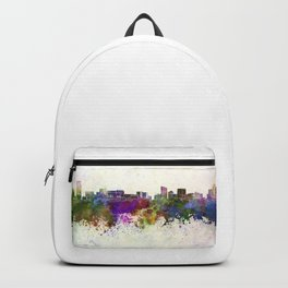 Grand Rapids skyline in watercolor background Backpack