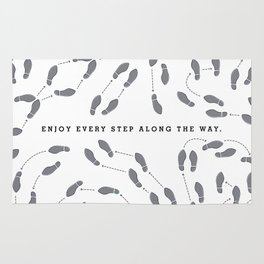 Enjoy the Dance - Grayscale Rug