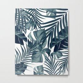 Tropical Jungle Leaves Pattern #9 #tropical #decor #art #society6 Metal Print
