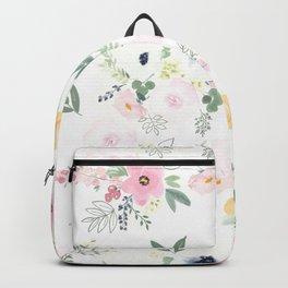 In Bloom Modern Floral Pattern Backpack