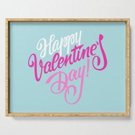 Happy Valentine's Day Typography Serving Tray