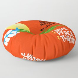 Sukkot Poster Floor Pillow