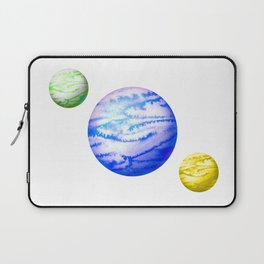 Illustration of watercolor round planet Laptop Sleeve