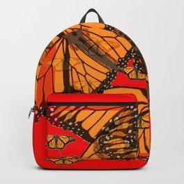 MODERN ART MONARCH BUTTERFLIES  RED ART Backpack