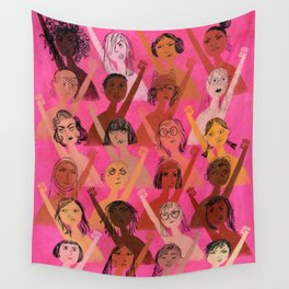 Rise up with fists! Wall Tapestry