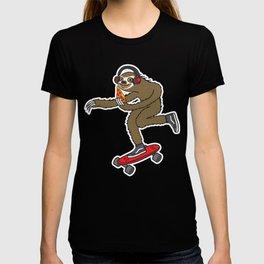 Skater Sloth Pizza T-shirt
