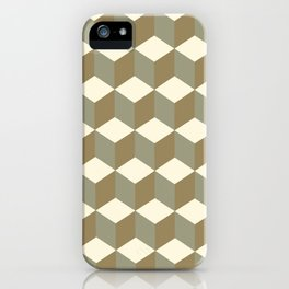 Diamond Repeating Pattern In Meerkat Brown and Grey iPhone Case