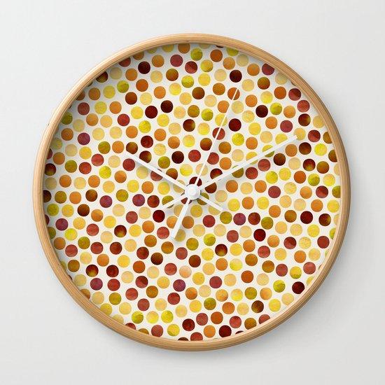 Watercolor Dots_Amber Wall Clock