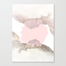 Pale Pink on Mountains Canvas Print