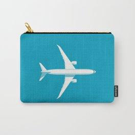 787 Passenger Jet Airliner Aircraft - Cyan Carry-All Pouch