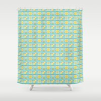 nautical Shower Curtains featuring Nautical by chocolategoddess