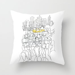 NYC yellow cab Throw Pillow