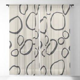 Daisy Circles Sheer Curtain