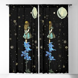 Wonderland Sky Viewing Time - Alice In Wonderland Blackout Curtain