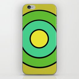 yellow target iPhone Skin