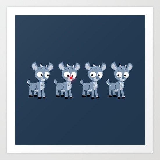 Hey look, it's Rudolph! Art Print