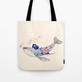 Pirate Whale Tote Bag