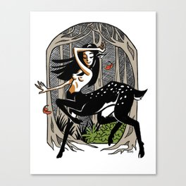Dance of the Deer Canvas Print