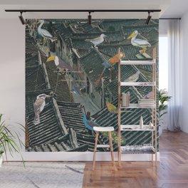 Bird Town Wall Mural