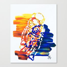 Abstractonaut V1 Canvas Print