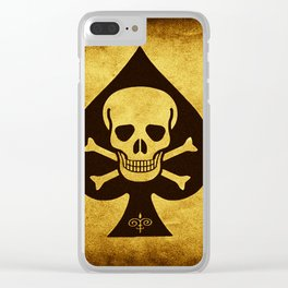 Death Card - Ace Of Spades Clear iPhone Case