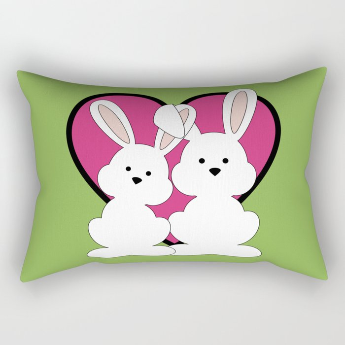 be my valentine love heart rectangular pillow - Valentine Pillow