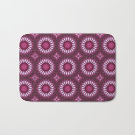 Kaleidoscope pink colors. Bath Mat