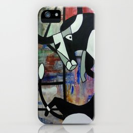Contorted Bull iPhone Case