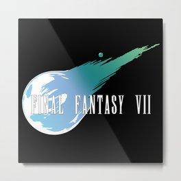 Meteor Logo - Final Fantasy VII Metal Print