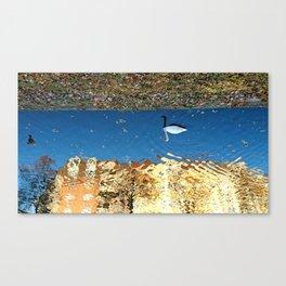 Reflector Swan I - Inverse Canvas Print