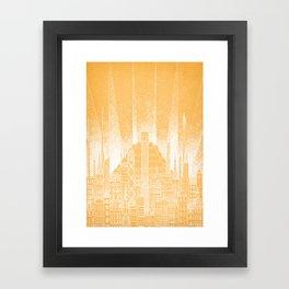 Sun Celestial City Framed Art Print