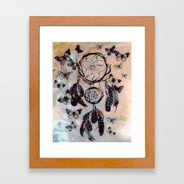 Dreamcatcher wild adventurer butterfly feathered dream Framed Art Print