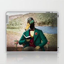 Monsieur Mallard Reading an Improving Book Laptop & iPad Skin