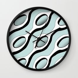 Chains Pattern - Blue Wall Clock