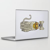 returns Laptop & iPad Skins featuring Ancient Cat Returns by Fathi