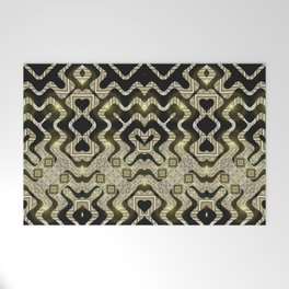 Tribal Gold Glam Welcome Mat