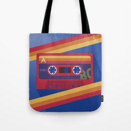 80s Retro Tape Deck Tote Bag