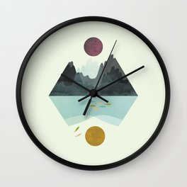 Storm and Calm Wall Clock