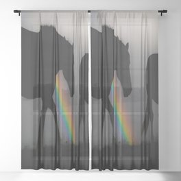 Silhouette of Color Sheer Curtain