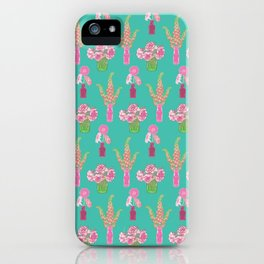 Flower Vases illustrated Pattern iPhone Case