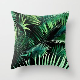 Winter Palms Throw Pillow