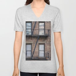 New York Fire Escape Unisex V-Neck
