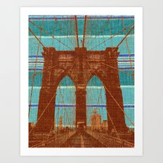 The Orange Bridge Art Print