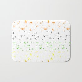 Dandelion Seeds Aromantic Pride (white background) Bath Mat