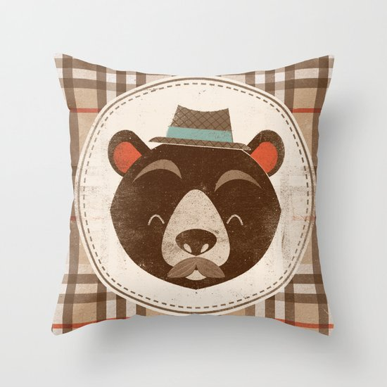 Uncommon Creatures - Bear Throw Pillow