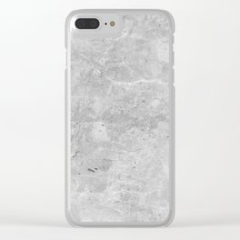 Gray Concrete Clear iPhone Case